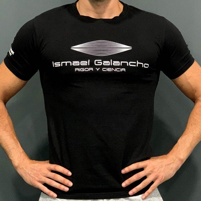 Camiseta hombre negra Ismael Galancho
