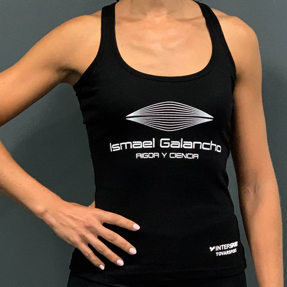 Camiseta negra mujer Ismael Galancho