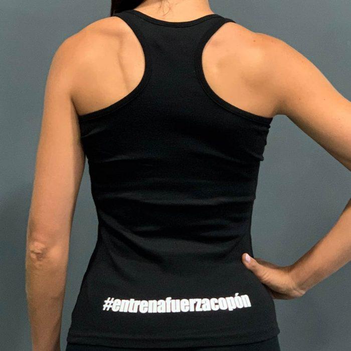 Camiseta negra mujer espalda Ismael Galancho