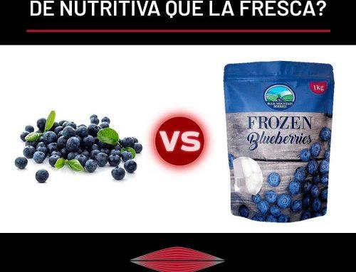 ¿ES LA FRUTA CONGELADA IGUAL DE NUTRITIVA QUE LA FRESCA?